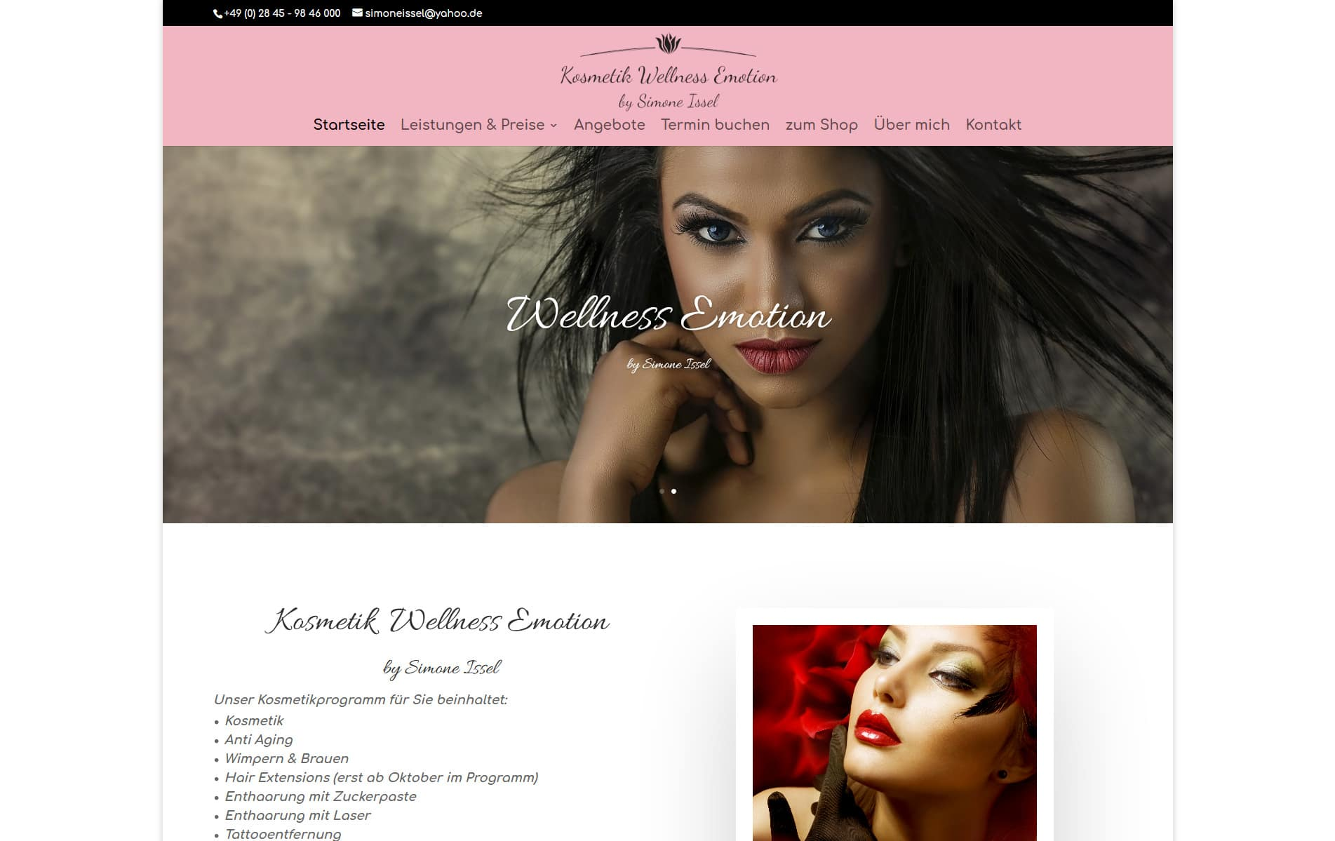 Webdesign Kleve TJWeb | Kosmetik Wellness Emotion aus Neukirchen-Vluyn