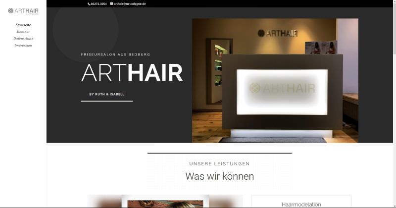 Webdesign Kleve TJWeb | ArtHAIR by Ruth & Isabell