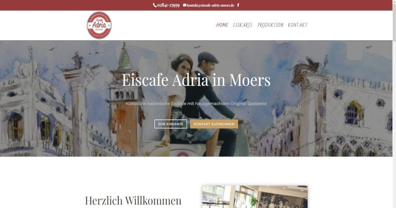 Webdesign Kleve TJWeb | Eiscafe Adria Moers