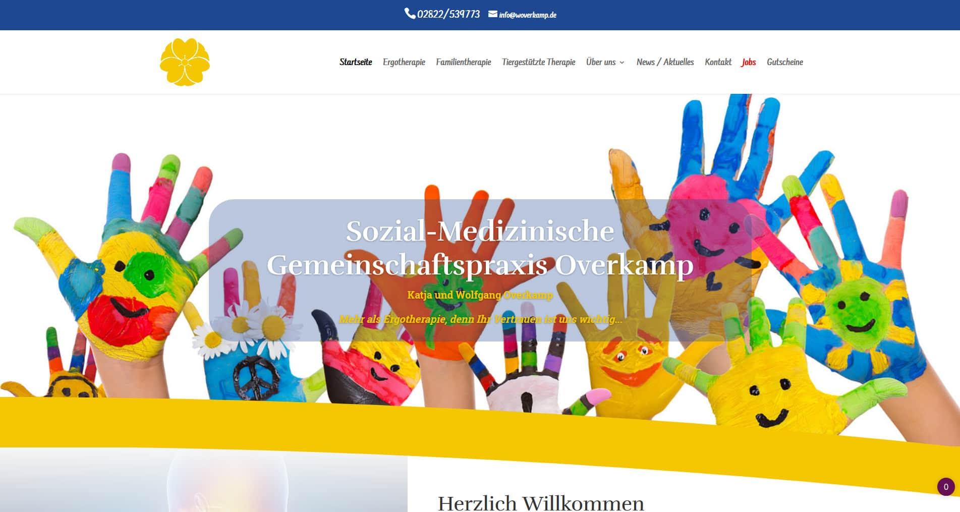 Webdesign Kleve TJWeb | Ergotherapie Praxis in Emmerich Gemeinschaftspraxis Overkamp