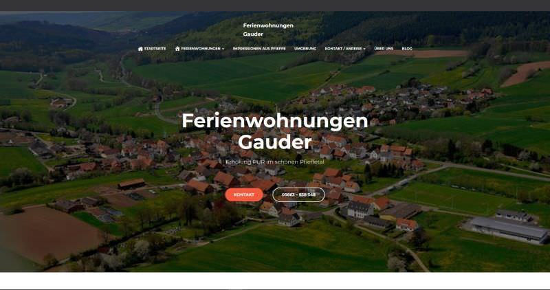 Webdesign Kleve TJWeb | Ferienwohnungen Gauder