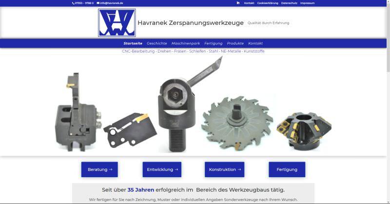 Webdesign Kleve TJWeb | Havranek Werkzeugbau