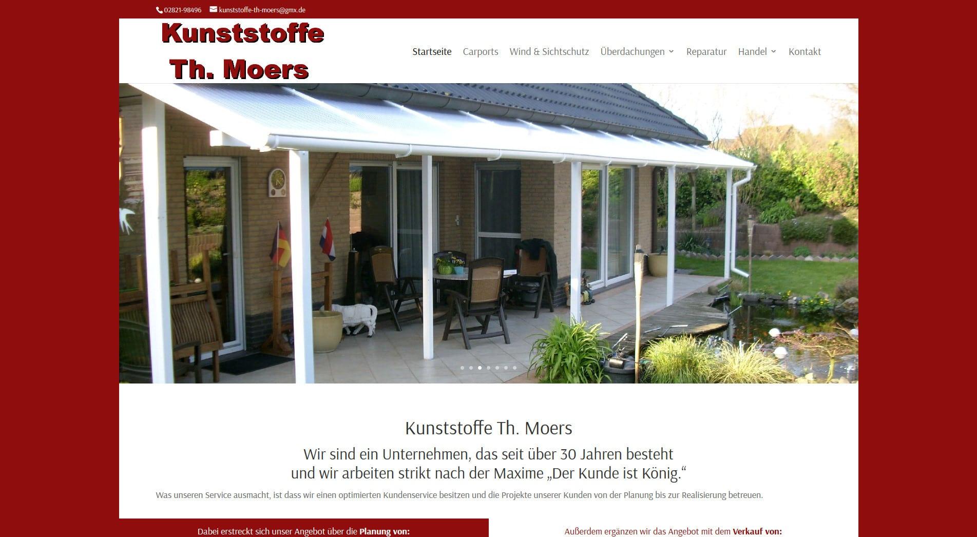 Webdesign Kleve TJWeb | Kunststoffe Theo Moers aus Kleve