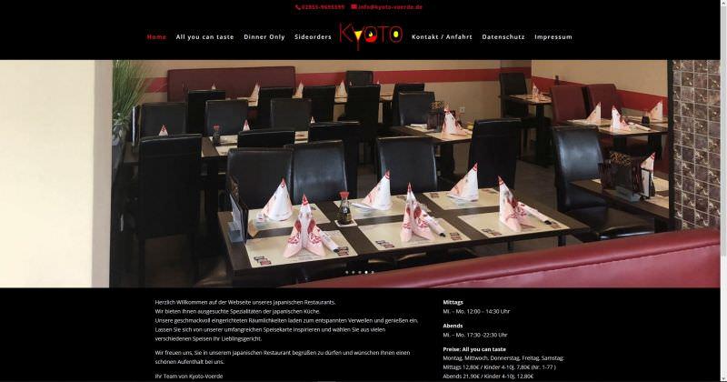 Webdesign Kleve TJWeb | Kyoto Voerde Japanische Küche