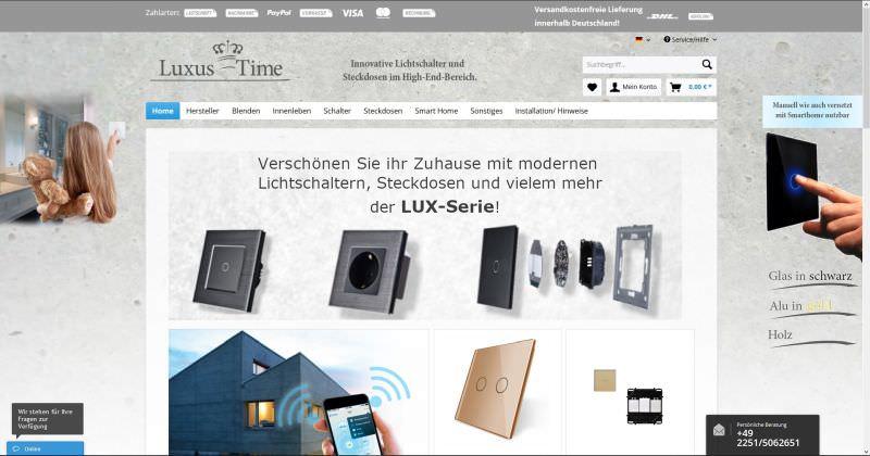 Webdesign Kleve TJWeb | Luxus-Time