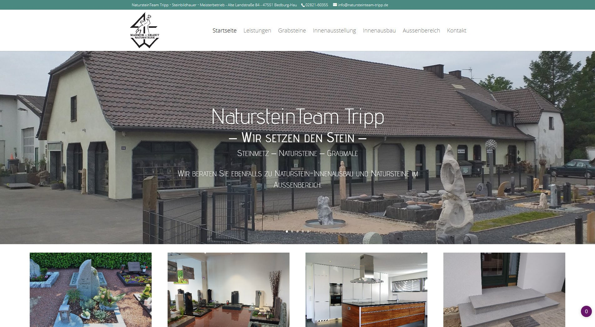 Webdesign Kleve TJWeb | Natursteinteam Tripp Bedburg-Hau