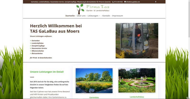 Webdesign Kleve TJWeb | TAS GaLaBau aus Moers