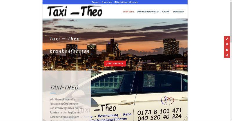 Webdesign Kleve TJWeb | Taxi-Theo aus Hamburg