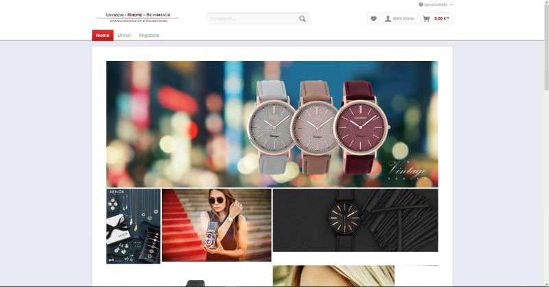 Webdesign Kleve TJWeb | Uhren Riepe Schmuck
