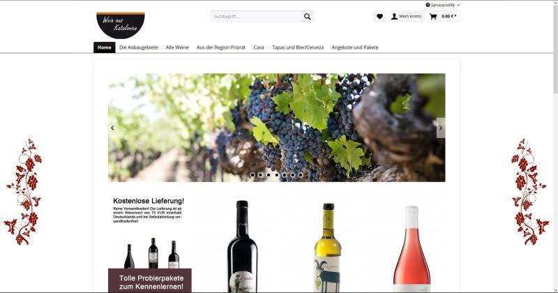 Webdesign Kleve TJWeb | Wein aus Katalonien