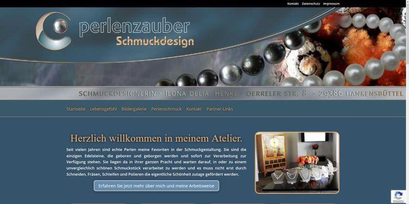Webdesign Kleve TJWeb | Perlenzauber Schmuckdesign